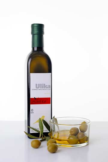 Homemade Sv. Lucia wine and Ulika olive oil
